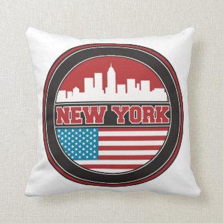 New York Skyline | United States Flag Cushion