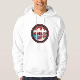 New York Skyline | United States Flag Hoodie