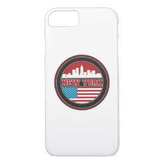 New York Skyline | United States Flag iPhone 8/7 Case