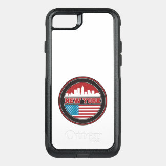 New York Skyline | United States Flag OtterBox Commuter iPhone 8/7 Case
