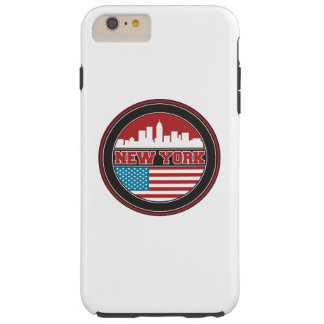 New York Skyline | United States Flag Tough iPhone 6 Plus Case