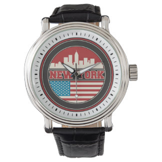 New York Skyline | United States Flag Watch