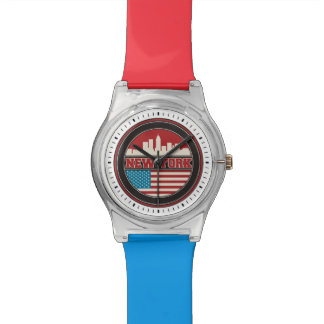 New York Skyline | United States Flag Wristwatches