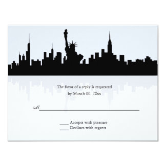 New York Skyline Wedding RSVP Card