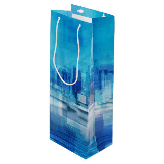 New York Skyline Wine Gift Bag