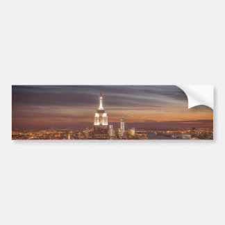 New York Skyline with the Empire State Building an Bumper Sticker