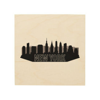 new york skyline wood wall art