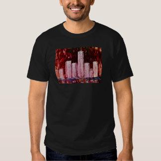 New York Skyscrapers Adult Tee Shirt