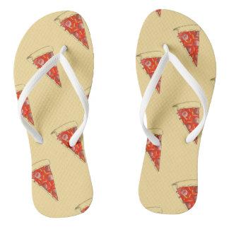 New York Slice NYC Pepperoni Pizza Print Foodie Thongs