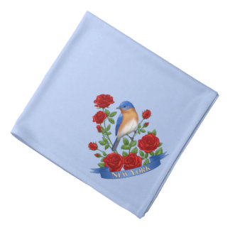 New York State Bird and Flower Bandana