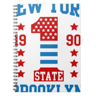 New york state Brooklyn Spiral Notebook