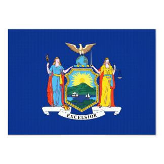 New York State Flag 13 Cm X 18 Cm Invitation Card