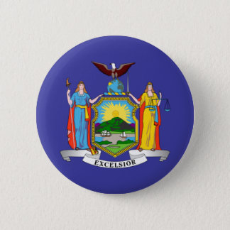 New York state flag 6 Cm Round Badge