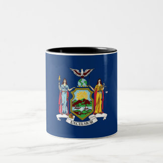 New York State Flag Two-Tone Coffee Mug
