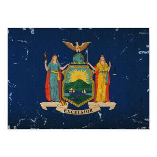 New York State Flag VINTAGE 13 Cm X 18 Cm Invitation Card
