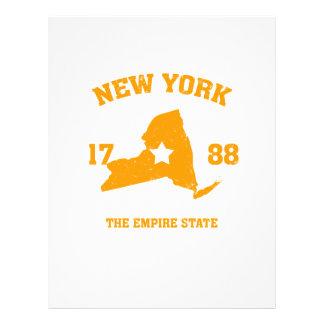 New York state 21.5 Cm X 28 Cm Flyer