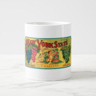 New York State Seneca Lake Grapes Vintage Crate La Jumbo Mug