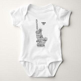 New York Statue Of Liberty Contoured in Words Baby Bodysuit