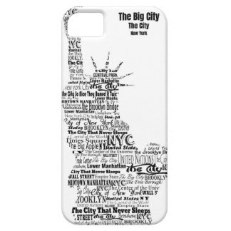 New York Statue Of Liberty Contoured in Words Case For The iPhone 5