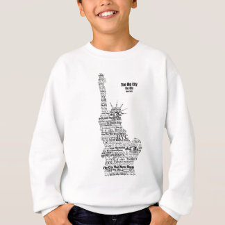 New York Statue Of Liberty Contoured in Words Sweatshirt