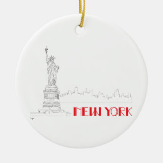 New-York, Statue-of-Liberty Cool Ceramic Ornament