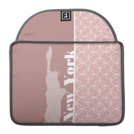 New York, Statue of liberty Mauve Circles Sleeves For MacBook Pro