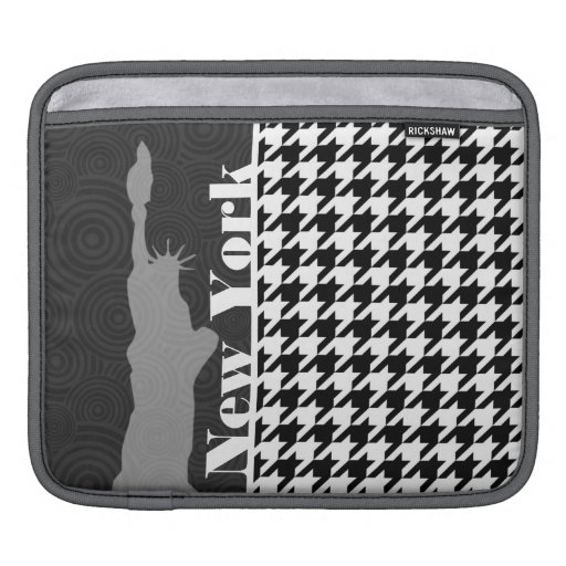 New York, Statue of Libety Houndstooth Sleeve For iPads
