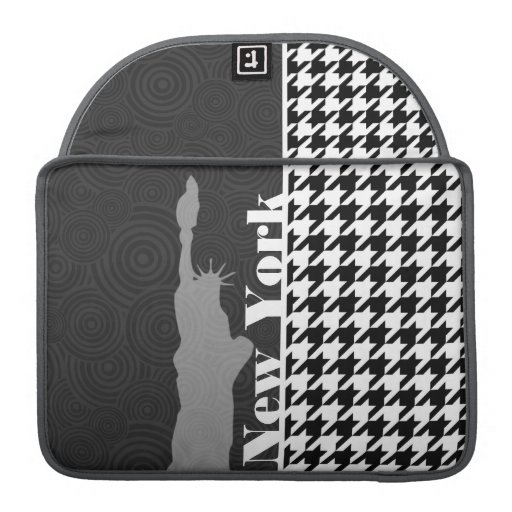 New York, Statue of Libety Houndstooth Sleeve For MacBooks