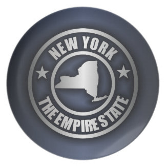 """New York Steel"" Decorative Plate (Blue)"