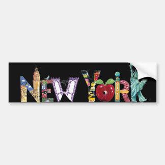 New York - sticker Car Bumper Sticker