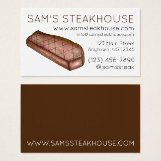 New York Strip Steak Steakhouse Restaurant Food Business Card