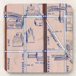 NEW YORK SUBWAY MAP, 1940 2 COASTER