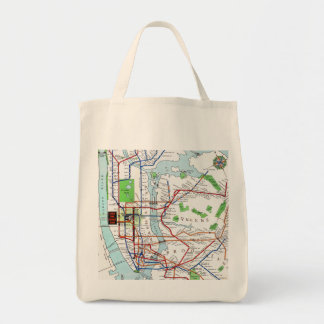 New York: Subway Map, 1940 Grocery Tote Bag