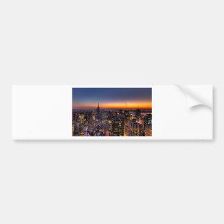 new york sunset bumper sticker