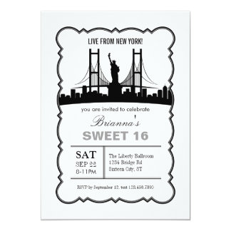 New York Sweet Sixteen Invitation