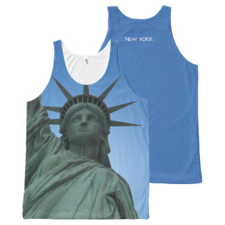 New York Tank Top Statue of Liberty NYC Art Shirts