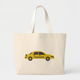 New York Taxi Cab Large Tote Bag