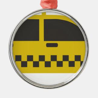 New York Taxi Cab Metal Ornament