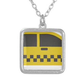 New York Taxi Cab Silver Plated Necklace