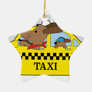 New York Taxi Dog Ceramic Star Decoration