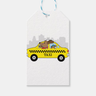 New York Taxi Dog Gift Tags