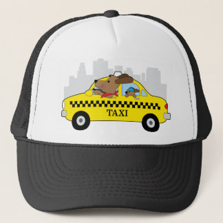 New York Taxi Dog Trucker Hat
