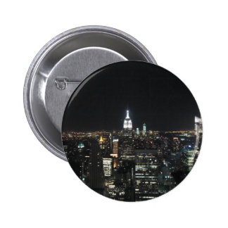 New York The Big Apple Manhattan at Night Gift 6 Cm Round Badge