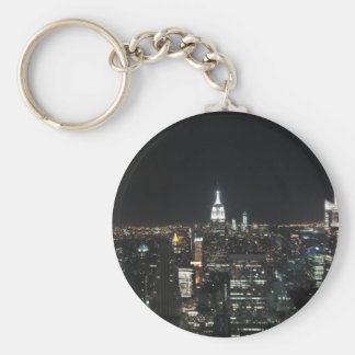 New York The Big Apple Manhattan at Night Gift Basic Round Button Key Ring