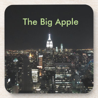 New York The Big Apple Manhattan at Night Gift Coaster