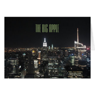 New York The Big Apple Manhattan at Night Gift Greeting Card