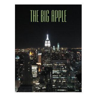 New York The Big Apple Manhattan at Night Gift Postcard