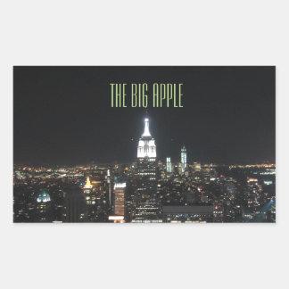 New York The Big Apple Manhattan at Night Gift Rectangular Sticker