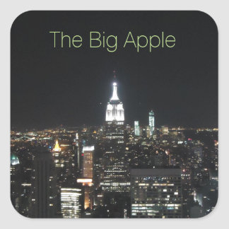 New York The Big Apple Manhattan at Night Gift Square Sticker