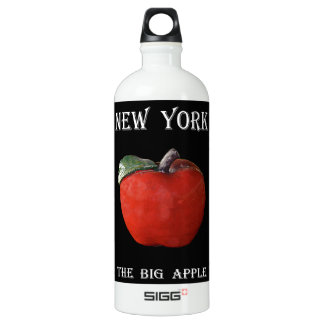 New York The Big Apple Water Bottle